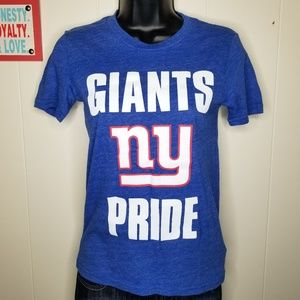 NFL Blue New York Giants Pride One Goal T-Shirt
